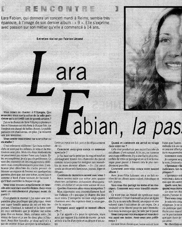 lara fabian rencontre